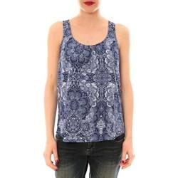 textil Mujer camisetas sin mangas Little Marcel Litlle Marcel Trevor Bleu Marine imprimé Azul