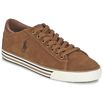 Zapatos Hombre Zapatillas bajas Ralph Lauren HARVEY COGNAC