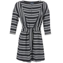 textil Mujer vestidos cortos Loreak Mendian PILI Negro / Blanco