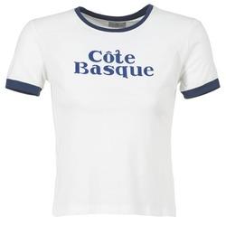 textil Mujer camisetas manga corta Loreak Mendian COTE BASQUE CRUDO / Marino