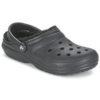 Zapatos Zuecos (Clogs) Crocs CLASSIC LINED CLOG Negro