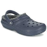 Zapatos Zuecos (Clogs) Crocs CLASSIC LINED CLOG Marino / Gris