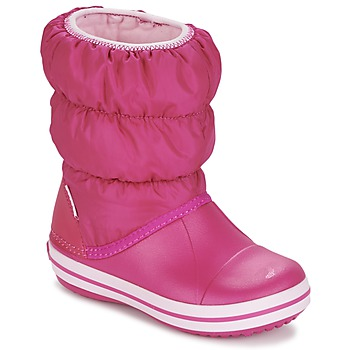Zapatos Niña Botas de nieve Crocs WINTER PUFF BOOT KIDS Rosa