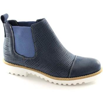 Zapatos Hombre Botas de caña baja Made In Italia MAD-M123-BL Blu