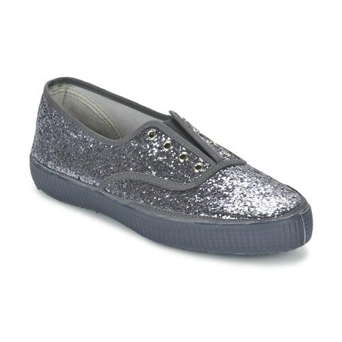 Zapatos Mujer Zapatillas bajas Chipie JOSS GLITTER Antracita