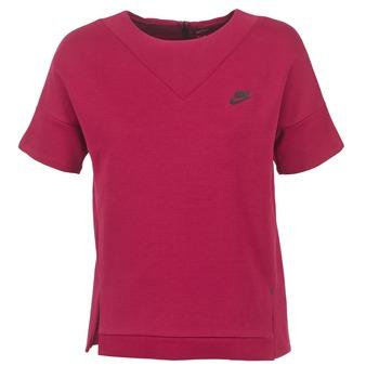 textil Mujer sudaderas Nike TECH FLEECE CREW Burdeo