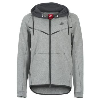 textil Hombre cazadoras Nike TECH FLEECE WINDRUNNER HOODIE Gris