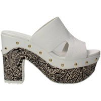 Zapatos Mujer Zuecos (Mules) Luciano Barachini 6025AB Chancla Mujer Blanco Blanco