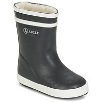 Zapatos Niños Botas de agua Aigle BABY FLAC FUR Marino