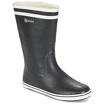 Zapatos Mujer Botas de agua Aigle MALOUINE FUR Negro