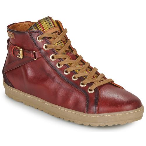 Zapatillas Mujer Pikolinos Lagos Zapatos Burdeo Altas 901 Rq543jAL
