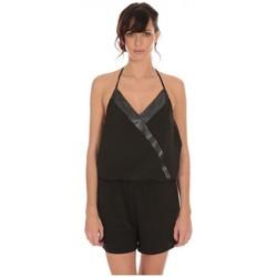 textil Mujer Monos / Petos LPB Woman Les Petites Bombes Combi Short Crepe  S160901 Negro