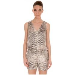 textil Mujer Monos / Petos LPB Woman Les Petites bombes Combishort Imprimé S166101 Beige