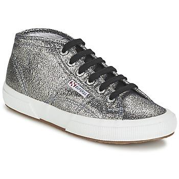 Zapatos Mujer Zapatillas altas Superga 2754 LAMEW Plata