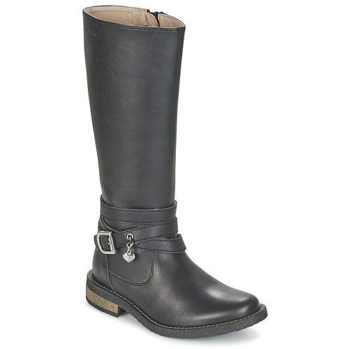 Zapatos Niña Botas urbanas Garvalin IRATIA Negro