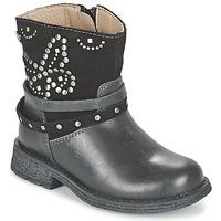 Zapatos Niña Botas de caña baja Garvalin GENILA Negro