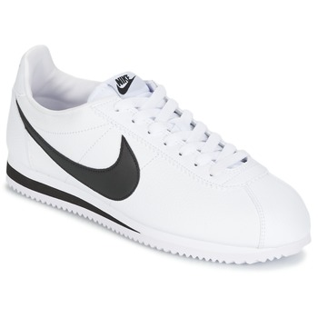 b0e878a2866 Zapatos Hombre Zapatillas bajas Nike CLASSIC CORTEZ LEATHER Blanco / Negro