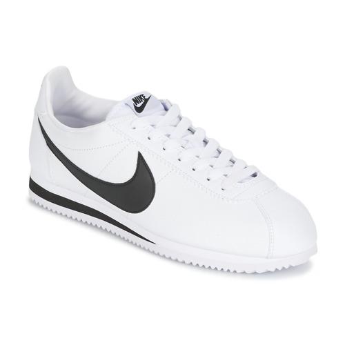 Zapatos Hombre Zapatillas bajas Nike CLASSIC CORTEZ LEATHER Blanco / Negro