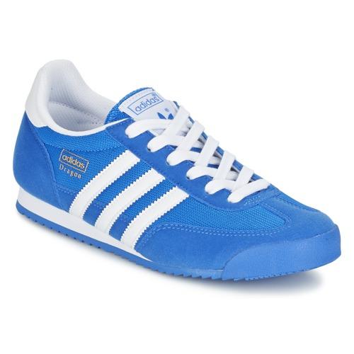 adidas Originals DRAGON J Azul - Zapatos Deportivas bajas Nino