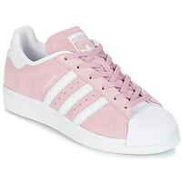 Zapatos Mujer Zapatillas bajas adidas Originals SUPERSTAR W Rosa / Blanco