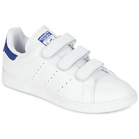 Zapatos Zapatillas bajas adidas Originals STAN SMITH CF Blanco / Azul