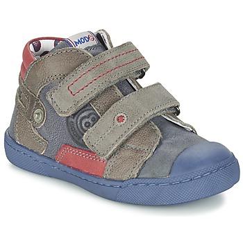 Zapatos Niño Botas de caña baja Mod'8 KINZO Marino / Gris