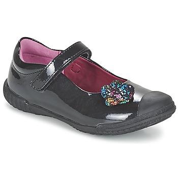 Zapatos Niña Bailarinas-manoletinas Mod'8 KANDEA Negro