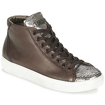 Zapatos Mujer Zapatillas altas Tosca Blu ALEXA Marrón / Plateado