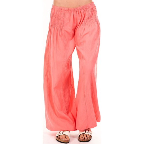 textil Mujer Pantalones fluidos By La Vitrine Sarouel Medina corail Naranja