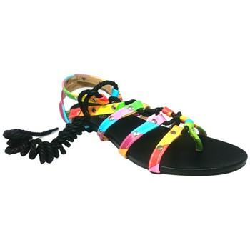 Zapatos Mujer Sandalias Cassis Côte d'Azur Spartiates Brides Multicolor Barbie Noir Negro