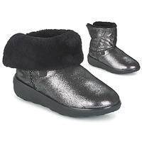 Zapatos Mujer Botas de caña baja FitFlop SUPERCUSH MUKLOAFF SHIMMER Plata