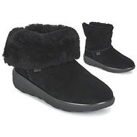 Zapatos Mujer Botas de caña baja FitFlop MUKLUK SHORTY 2 BOOTS Negro