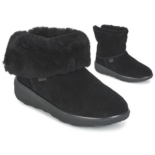 FitFlop MUKLUK SHORTY 2 BOOTS Negro promoción - Envío gratis Nueva promoción Negro - Zapatos Botas de caña baja Mujer 159,00 7cd357