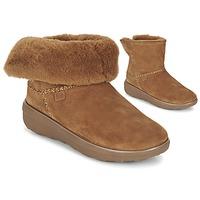 Zapatos Mujer Botas de caña baja FitFlop SUPERCUSH MUKLOAFF SHORTY Avellana