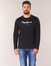 textil Hombre Camisetas manga larga Pepe jeans EGGO LONG Negro