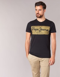 textil Hombre camisetas manga corta Pepe jeans CHARING Negro
