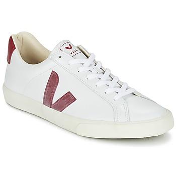 Zapatos Zapatillas bajas Veja ESPLAR Blanco / Rojo