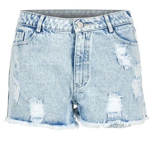 Yurban EVANUXE Azul / Claro - Envío gratis | ! - textil Shorts / Bermudas Mujer