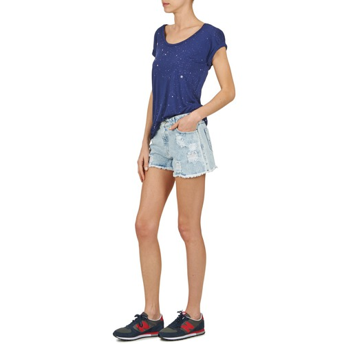 Claro Mujer Textil Yurban Azul Evanuxe ShortsBermudas H9EYWDI2