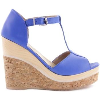 Zapatos Mujer Sandalias Cubanas Sandálias Stela120 Azul