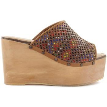 Zapatos Mujer Zuecos (Mules) Cubanas Soca Plump110 Marrón