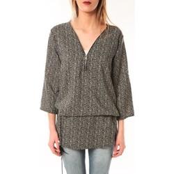 textil Mujer Túnicas De Fil En Aiguille Robe Noémie & Co E1485-43 Noire à pois Negro