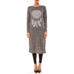 textil Mujer Vestidos largos By La Vitrine Robe Plume gris Gris
