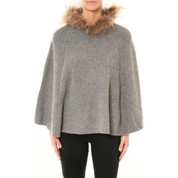 textil Mujer Chaquetas de punto Nina Rocca Poncho MO-E2019 gris Gris