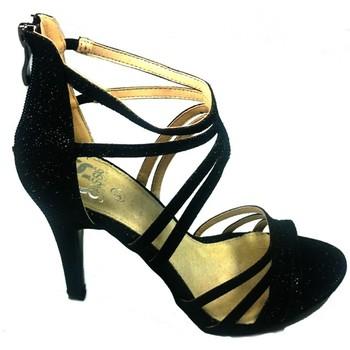 Zapatos Mujer Sandalias Cassis Côte d'Azur Sandales Multibrides ouvert Noir Oria Negro