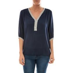 textil Mujer Tops / Blusas Barcelona Moda Top Leny Marine Azul