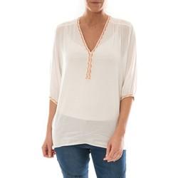 textil Mujer Tops / Blusas Barcelona Moda Top Leny Blanc Blanco