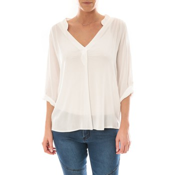 textil Mujer Tops / Blusas Barcelona Moda Top Billy Blanc Blanco