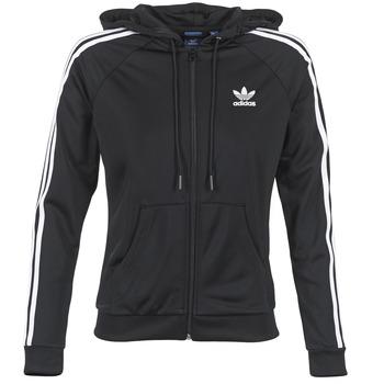 textil Mujer chaquetas de deporte adidas Originals SLIM FZ HOODIE Negro