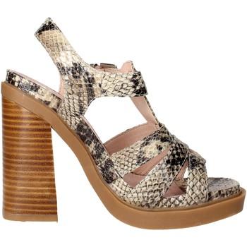 Zapatos Mujer Sandalias Bronx 84436-B Marrón Taupe